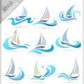 Sea graphics series premium sea travel icons for your creative needs Royalty Free Stock Images