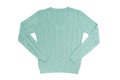 Sea green sweater is on white background Royalty Free Stock Photos