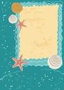 Sea Greeting Card Royalty Free Stock Photo