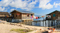 Sea gypsy houses Royalty Free Stock Photo
