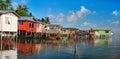 Sea gypsy village Stock Photography