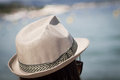 Sea hat watch in the sunset Royalty Free Stock Photo