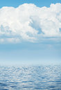 Sea horizon with cloudy sky wave Royalty Free Stock Photo