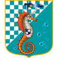 Sea horse orange marine chess Royalty Free Stock Images