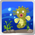 Sea horse underwater Stock Image