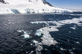 Sea ice off the coast of antarctica landscape and alleys neumayer channel Stock Image