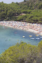 Sea island of elba view the on the in fetovaia Stock Photography