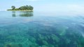 Sea and island little at karimun jawa indonesia Royalty Free Stock Images