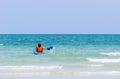 Sea kayak in thai ocean Royalty Free Stock Photo