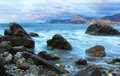 Sea landscape with cloudy sky crimea ukraine Royalty Free Stock Photos