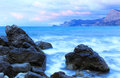 Sea landscape with cloudy sky crimea ukraine Royalty Free Stock Images