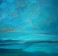 Sea landscape oil on a canvas, painting Royalty Free Stock Photo