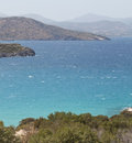 Sea landscape panorama of crete greece beautiful Stock Photos