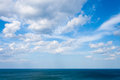 Sea landscape and sky whit clouds on summer day Stock Image
