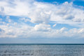Sea landscape and sky whit clouds on summer day Royalty Free Stock Photo