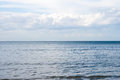 Sea landscape and sky whit clouds on summer day Royalty Free Stock Photos