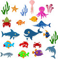 Sea life cartoon background illustration of Stock Images