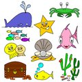 Sea Life Cartoons Stock Images
