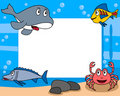 Sea Life Photo Frame [3] Royalty Free Stock Images