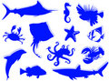 Sea-life silhouette Royalty Free Stock Photography