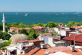 Sea of marmara view from istanbul turkey Royalty Free Stock Image