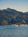 Sea of Marmaris, Turkey with beautiful scenery, summer