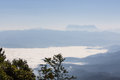 Sea of mist with doi luang chiang dao view form doi dam in wianghaeng Royalty Free Stock Photo