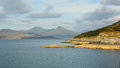 Sea and mountains scottish in the highlands isle of skye Royalty Free Stock Photos