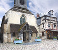 Sea museum honfleur a small medieval harbor in normandy france Stock Photo