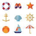 Sea Objects Collection Vector