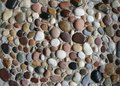 Sea pebbles in the sand. Royalty Free Stock Photo