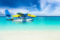 Sea plane in the indian ocean Royalty Free Stock Photo