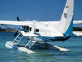 Sea plane prepare for flight Royalty Free Stock Images