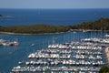 Sea port in city of vrsar croatia Stock Images