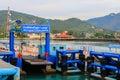 Sea port of seatran ferry terminal a pier koh samui,surat thani Royalty Free Stock Photo