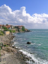 Sea quay in bulgaria the black sozopol Royalty Free Stock Images