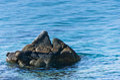 Sea rocks at morning near Destenika beach at Sithonia
