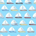 Sea sail yachts seamless pattern Royalty Free Stock Photo