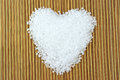 Sea salt heart in shape Royalty Free Stock Photos