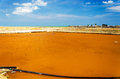 Sea salt production pools for gathering in the town of manaure in la guajira colombia Royalty Free Stock Photography