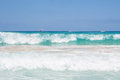 Sea in san vito lo capo beach beautiful waves sicily Stock Photography