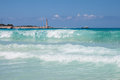 Sea in san vito lo capo beach beautiful waves sicily Royalty Free Stock Photography