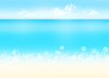 Sea sand and blue sky nature background abstract Stock Photo