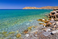 Sea scenery at Spinalonga island on Crete Royalty Free Stock Images
