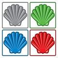 Sea shell icons. vector Royalty Free Stock Photo