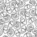 Sea shell seamless pattern Royalty Free Stock Image
