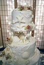 Sea Shell Wedding Cake Royalty Free Stock Image