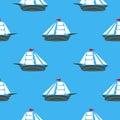 Sea Ships Silhouettes