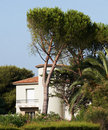 Sea-side villa in Provence Royalty Free Stock Photo