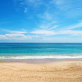 Sea and sky beautiful beach tropical Royalty Free Stock Image